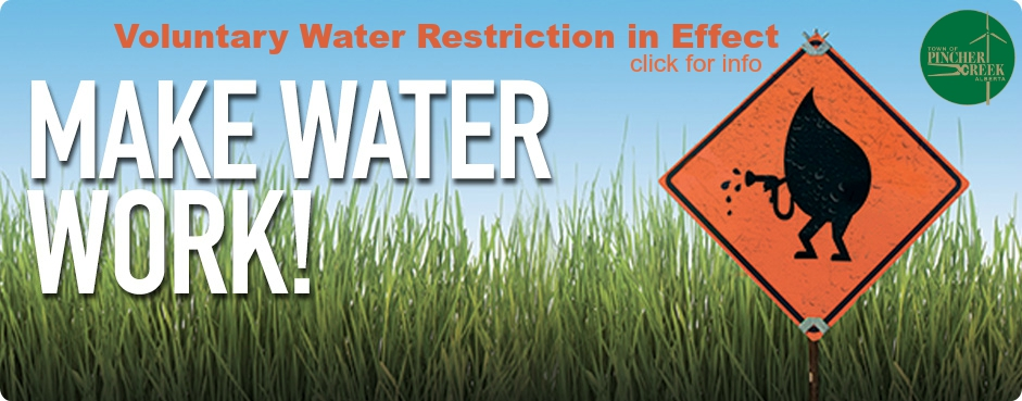 Voluntary Water Restriction Currently in effect