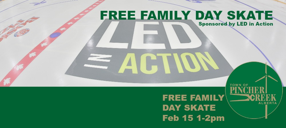 Free skating from 1-2pm sponsored by LED in Action